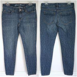 EDDIE BAUER Slightly Curvy Skinny Ankle Blue Jeans